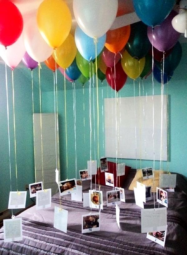 Как украсить комнату на день рождения мужу своими руками фото