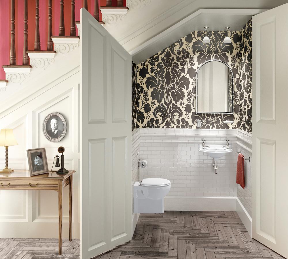 Фото туалет под лестницей