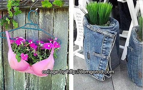 Украшаем сад своими руками из подручных средств фото