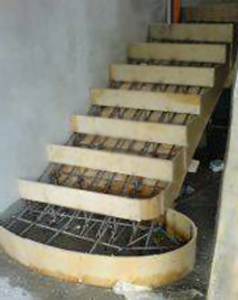Бетонная лестница комбинированная с пандусом своими руками