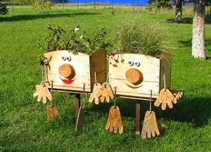 Поделки для огорода из дерева своими руками фото