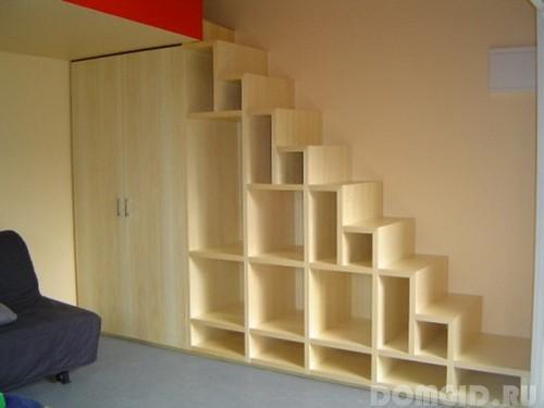 Лестница на 2 этаж в частном доБукет