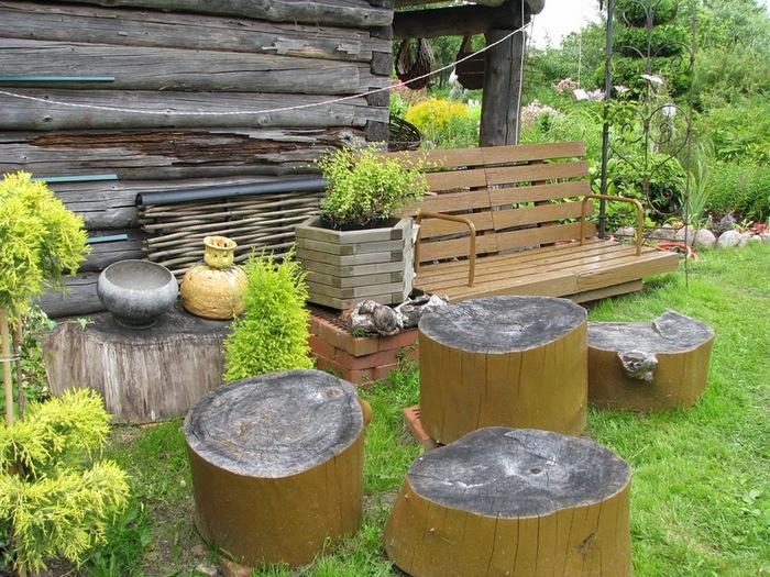 Садовая мебель из бутылок