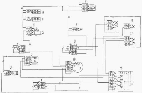 Электрическая схема Камаз