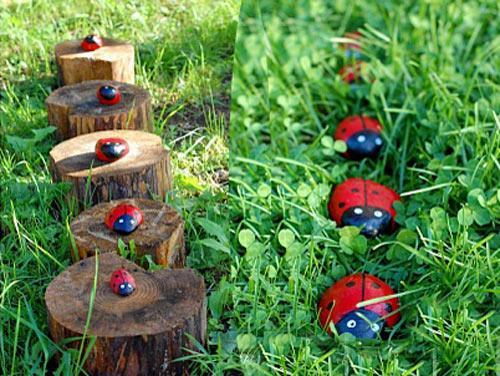Украшения для сада из подручных материалов своими руками