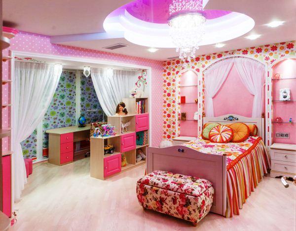 Оформление детской комнаты для девочки своими руками
